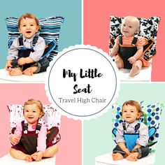 Perfect for on-the-go travel! My Little Seat folds down to the size of a diaper and will fit into any diaper bag. It's comfortable, fashionable, and transforms any adult chair into a high chair! The fabric is durable and machine washable and makes traveling stress free!