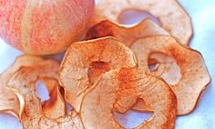 Super Simple Baked Cinnamon Apple Chips. A healthy snack that your kids won't trade out for cookies!