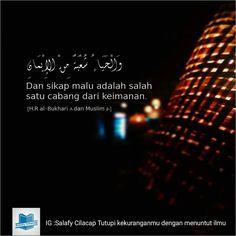 Sikap malu #islam #islamituindah #Rasulullah #Nabi #sahabat #iman #takwa #penuntutilmu #thalabulilmi #nasehat #asysyariah #salafiyyin #forumsalafynet #ahlussunnah #alquran #assunnah #sunnah #muslim #muslimah #ikhwan #akhwat #dakwah #indonesia #salafy #pemudasalafy #salafyindonesia #kajianislam #indonesiatanpasyiah #indonesiatanpajin #indonesiatanpajil by salafiyyin_