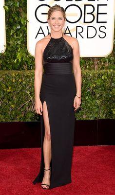 Golden Globes 2015 - Jennifer Aniston (45) in Saint Laurent.