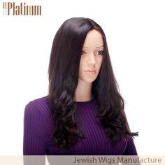 Supply new design lace front 23 inch #2 water wave european hair jewish kosher wig.