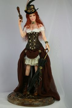 Steampunk sculpt  Lottie Vivian Latimer By Phyllis Morrow- Pgm Sculpting