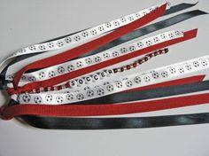 Personalized Name Ponytail Holder Hair Tie Pony-o Streamers SOCCER Ball Ribbon Team Name Basketball, Baseball, Cheer leading, Football avail