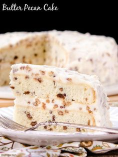 Old-Fashioned Butter Pecan Cake | This homemade cake recipe from scratch is one you'll remember forever.