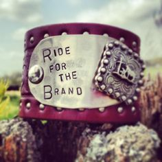 RIDE FOR the BRAND vintage leather belt cuff by DirtRoadGirls, $42.00