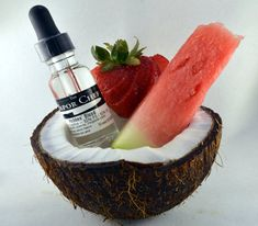 """Brought to you by The Vapor Chef : Hobbes' Blood - Watermelon, strawberry and a very light hint of coconut. Think of the """"Tigers Blood"""" snow cone or shave ice flavor. Juice Flavors, Vanilla Custard, Snow Cones, Vape Juice, Calories, Gourmet Recipes, Food Print, Tasty, Stuffed Peppers"""