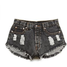 Forever 21 Women's  Beach Vibes Distressed Cutoffs ($19) ❤ liked on Polyvore featuring shorts, short, bottoms, pants, frayed cut off shorts, destroyed shorts, short shorts, distressed cut off denim shorts and frayed shorts