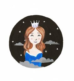 Queen of the Stars Print by TheGibbyGallery on Etsy