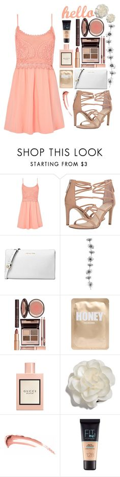 """Summer Dresses Under $100"" by randomgirl03 ❤ liked on Polyvore featuring Topshop, Chinese Laundry, Michael Kors, Charlotte Tilbury, Lapcos, Gucci, Cara and Maybelline"