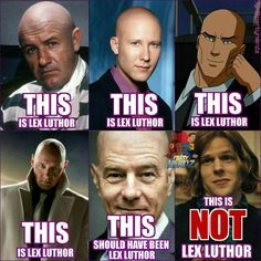 So after seeing #DawnofJustice for a second time we are THOROUGHLY convinced that the portrayal of Lex Luthor by Jesse Eisenberg was 100% the reason why this movie wasn't the Epic Film it COULD have been! Whether it was the writers telling him to act all twitchy and eccentric or whether this was Jesse's own take on the classically smooth and devious villain...He totally destroyed the movie for us. And to whom it may concern: This was NOT the Lex Luthor we all know and love's son according to…