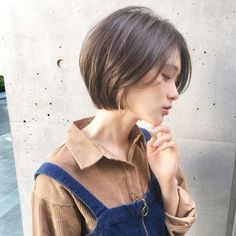 Pin on ボブ ヘアー (Bobbed hair) Asian Short Hair, Very Short Hair, Short Hair With Bangs, Short Hair Cuts, Short Hair Korean Style, Japanese Short Hair, Girls Short Haircuts, Short Hairstyles For Women, Hairstyles With Bangs