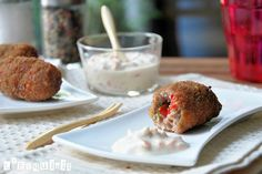 As meal (20 pcs)Tips: If you want to be round croquettes make 30 to served as Tapas.   500 grs. mixed minced meat (beef and pork)  1 red pepper, chopped  1 onion, chopped  2 clove garlic, pressed  1 egg, beaten  2 c / c fresh parsley, chopped  50 grs. Parmesan cheese, grated  50 grs. toasted bread, crumbled  ½ c / c oregano  Salt and pepper  Ingredients for the batter:  1 egg, beaten  breadcrumbs  Ingredients for the sauce:  140 ml. mayonnaise  2 c / s lemon juice  2 tomatoes, peeled…