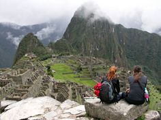 A cloudy day in Machu Picchu, Peru