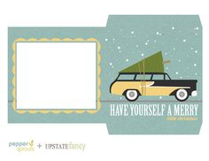Cd Sleeve Template Last Minute Christmas Gifts Things Happy