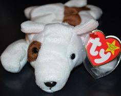 TY Beanie Baby Errors #Butch #BullTerrier Misspelling No Stamp Tush Tag Date  #Ty
