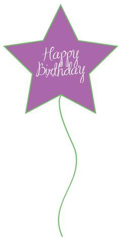 happy birthday ballons | Happy Birthday Star Balloon