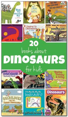 20 books about dinosaurs for kids Kids Crafts Dinosaur Books For Kids, Dinosaur Crafts Kids, Dinosaurs Preschool, Dinosaur Activities, Dinosaur Gifts, Preschool Books, Learning Activities, Childrens Books, Kid Books