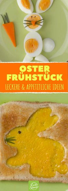 4 leckere Möglichlichkeiten, ein dekoratives Osterfrühstück zuzubereiten! #rezept #rezepte #ostern #ei #einfach #deko #toast #hase #bacon
