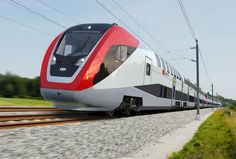 The World's Most Impressive High Speed 'Bullet' Trains - International Business Times  Bombardier DB Regio AG Red black white double decker train exterior