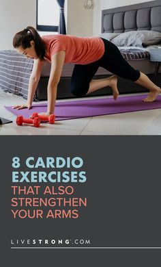 This eight-move arm-blasting cardio workout will boost your heart rate, scorch calories and strengthen and tone your arm muscles — no equipment required. Cardio Workout At Home, Gym Workout For Beginners, Gym Workouts, Arm Muscles, Shoulder Muscles, Body Weight, Weight Loss, Strength Training Workouts, Strong Body