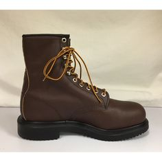 "Men's  8"" Safety Work Boots - L - 9 1/2 B"