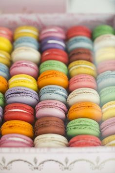 Colorful French macarons  ~ Julie Leah, a lifestyle blog