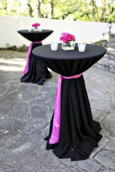 tie around cocktail table - gives it a more elegant and polish look!