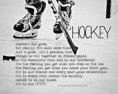 8x10 Hockey in our Hearts Print by SportyPrintsbyMBM on Etsy