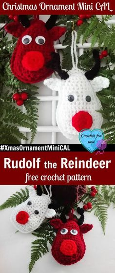 Christmas Ornament Mini CAL – Crochet Rudolf the Reindeer #xmasornamentminical