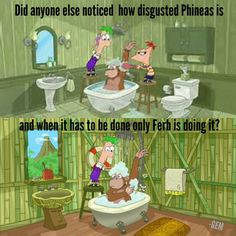 Phineas and Ferb giving a monkey a shower funny pic head canon p&f theme - Funny Monkeys - Funny Monkeys meme - - The post Phineas and Ferb giving a monkey a shower funny pic head canon p&f theme appeared first on Gag Dad. Disney Jokes, Disney Cartoons, Disney And Dreamworks, Disney Pixar, Phineas And Ferb Memes, Disney Shows, Disney And More, Cartoon Memes, Disney Marvel