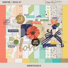 Quality DigiScrap Freebies: Downtime full kit freebie from Dawn By Design