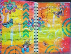 Week 24 Planner Pages. Thanks to Terri Kahrs for the printed flowers used here with her permission.