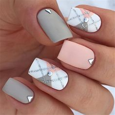 70 Gorgeous And Cute Christmas Square Nail Designs – Page 11 – The Life Idea. - 70 Gorgeous And Cute Christmas Square Nail Designs – Page 11 – The Life Ideas - Classy Nails, Stylish Nails, Trendy Nails, Chic Nails, Elegant Nails, Winter Nail Art, Winter Nails, Spring Nails, Winter Art