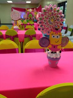 Birthday Party Ideas | Photo 1 of 21 | Catch My Party Barbie Birthday Party, 2nd Birthday Party Themes, Minion Birthday, Minion Party, Baby Girl Birthday, Birthday Fun, First Birthday Parties, Third Birthday, Birthday Ideas