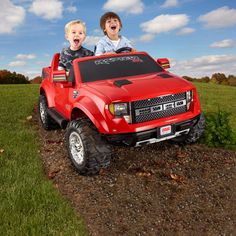 Fisher-Price Power Wheels Red Ford F150 Raptor 12-Volt Battery-Powered Ride-On: Bikes & Riding Toys : Walmart.com