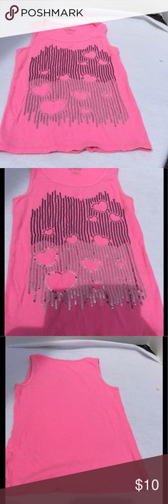 Justice girls sequin bling tank Justice girls sequins pink tank. Size 16. Smoke free home cool shirt. Justice Shirts & Tops Tank Tops