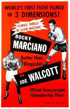 3-D SHORT SUBJECT (1953) - Rocky Marciano vs. 'Jersey' Joe Walcott - Heavyweight Championship Boxing Match in 3-D