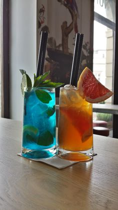 lemoniada blue i mrożona herbata hibiskus