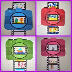 * Fototoestel-vakantie-foto's! Fun Crafts For Kids, Diy For Kids, Arts And Crafts, Back To School Art, Art School, Creative Activities, Preschool Activities, Mod Podge Fabric, 3rd Grade Art