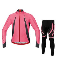 PANDOOM Mens Long Sleeve Cycling Jersey And Pants Set Pro Team Cycling Jacket for Outdoor Sports XS >>> See this great product.