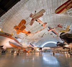 The Smithsonian National Air and Space Museum holds the world's largest collection of aircraft and spacecraft.