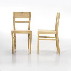 Chaise contemporaine / en bois SEGNO by Enrico Tonucci Bedont