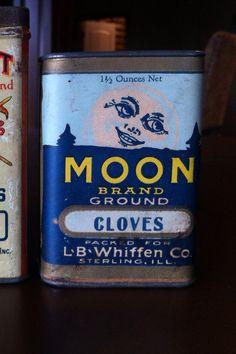 Rare moon brand  Contact Chris about spice tins Cctincher@gmail.com