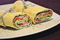Küchenzaubereien: Mal wieder Soulfood - Salatwraps mit Schinken