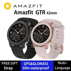 Global Version Huami Amazfit GTR 42mm Smart Watch 5ATM Smartwatch 12Days Battery GPS Music Control For Xiaomi Android IOS | www.smilys-stores.com Men's Watches, Watches For Men, Outdoor Workouts, Training Plan, Smartwatch, White Leather, Ios, Android, Music