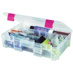 Creative Options 2-3630-82 Pro-Latch Deep Utility Organizer with 4 to 9 Adjustable Compartments, Medium