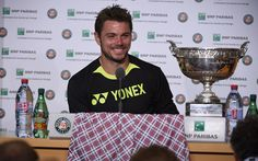 Stan brings his shorts, possibly the most talked-about item of clothing this tournament, to the press conference.