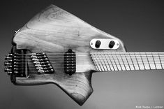 Sketch, 7-string headless guitar by Rick Toone.