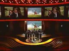 Josh Groban at the Emmy Awards singing the theme songs of different TV shows. So funny!