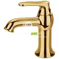 Omnires ART DECO Złota bateria umywalkowa. Złoty akcent w stylu retro może nada czarno-białej łazience niebagatelnego charakteru. #lazienkiabc #złota #bateria #czarno-biała #łazienka #artdeco #omnires
